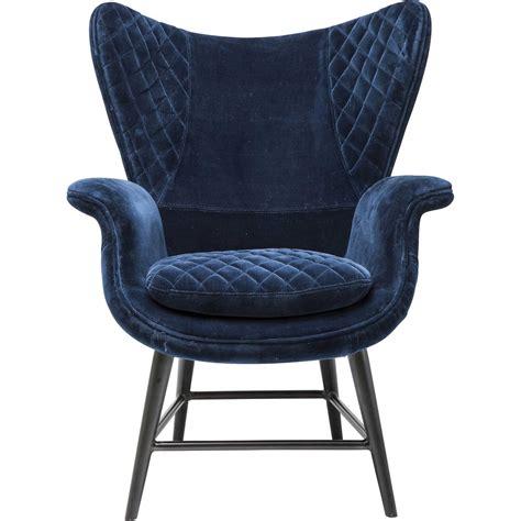 design sessel günstig fauteuil r 233 tro en velours bleu tudor kare design