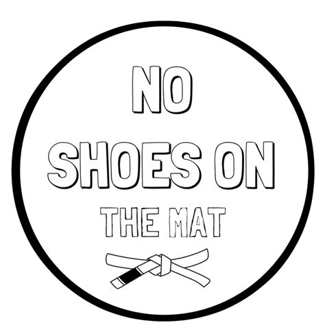 No Shoes Doormat by No Shoes On The Mat Home