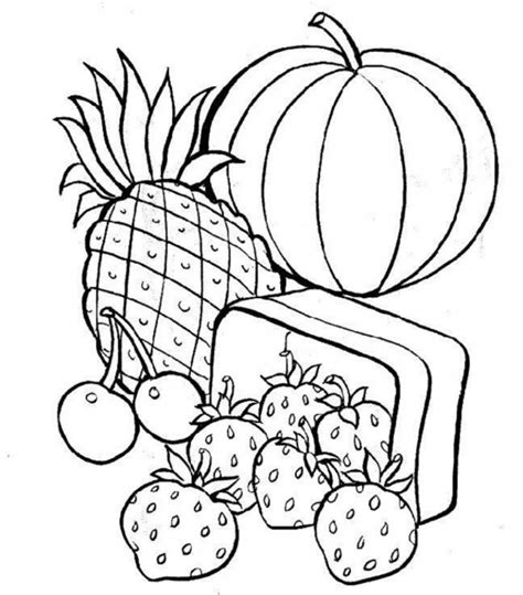 cuisine color free printable food coloring pages for