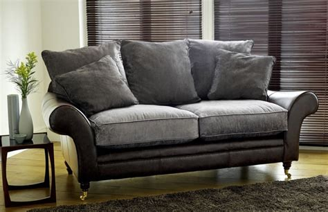 leather and fabric sofa mix atlanta leather fabric sofa leather sofas