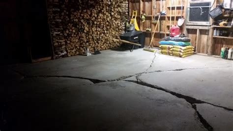 Large cracks in garage floor   DoItYourself.com Community