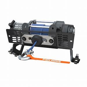 Polaris U00ae Pro Hd 4 500 Lb  Winch With Rapid Rope Recovery