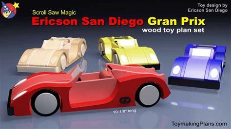 Wood Toy Plan Build A Sleek Gran Prix Race Car Youtube