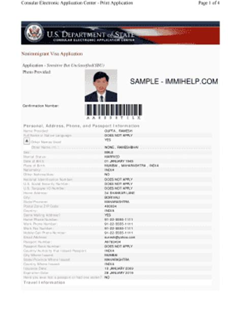 26 printable us visa application form templates fillable