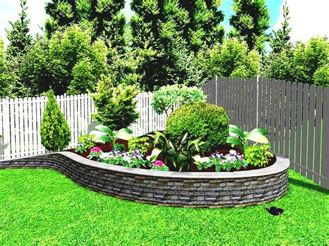 Garden Design With Frugal Landscape Without Flowers Front