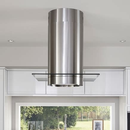 Lamona Stainless Steel Cylinder Island Extractor Fan