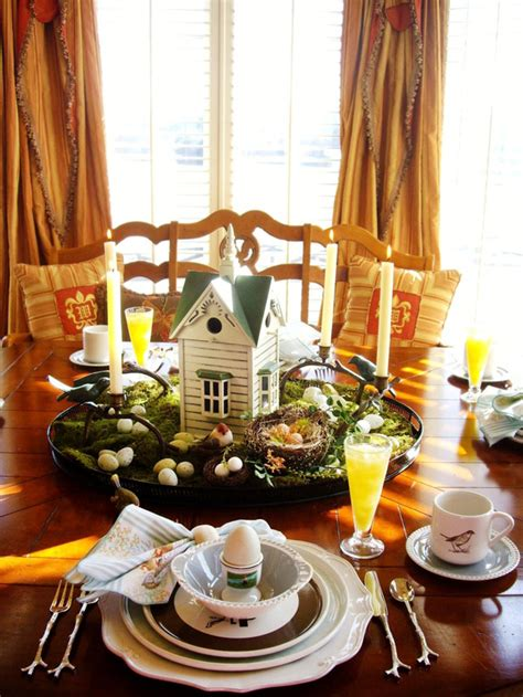 easy diy tablescapes  easter