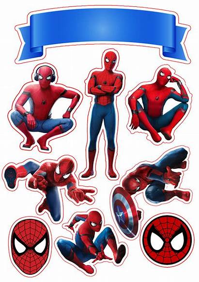 Spiderman Cake Printable Toppers Party Decorations Topper