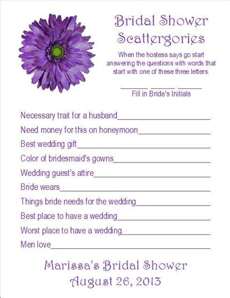 24 Personalized Scattergories Bridal Shower Game. Wedding Favors Mini Bottles. Wedding Catering Auburn Al. Fall Wedding Flower Girl. Wedding Photography Video Tutorials Download. Wedding Cake Toppers Things Remembered. Winter Wedding Locations Colorado. Wedding Combs For Hair. Wedding Services Hastings