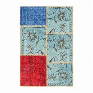 burling tapis en laine 80x120 multicolore habitat With tapis laine multicolore