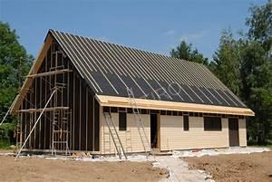 Sous toiture feutre bitumé maison ossature bois Maisons ossature bois en kit TIRO