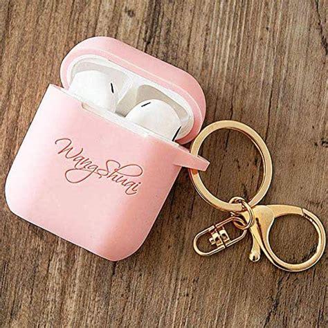 amazoncom personalized airpod case  keychain custom