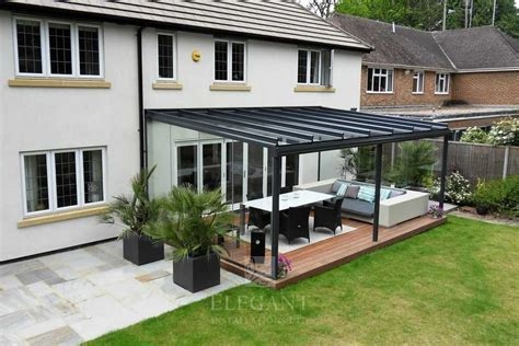 glass veranda  hampshire  fixed glass sides elegant