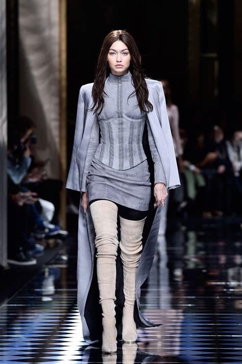 Gigi Hadid - Balmain Fashion Show - Paris Fashion Week 3/3 ...