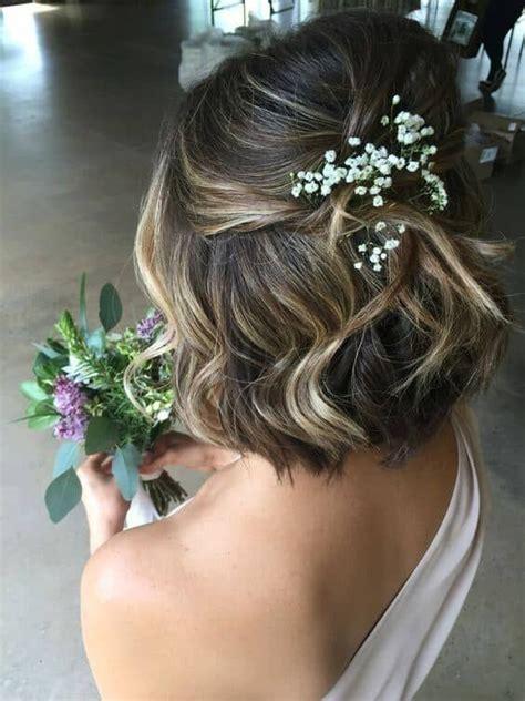 romantische hochzeit frisuren fuer kurze haare frisuren