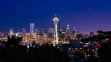 Cityscape Background Seattle Cityscape Wallpaper Desktop Backgrounds For Free