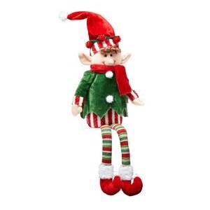 sitting christmas boy elf decor christmas tree shops andthat