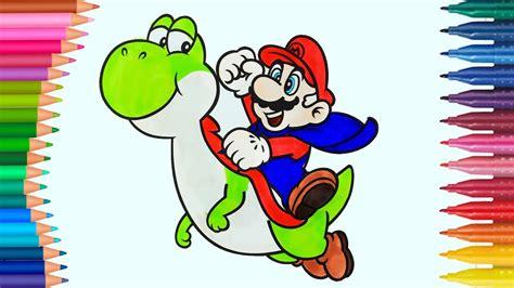 Super Mario Bros de pintar Dibujos Para Niños Learn