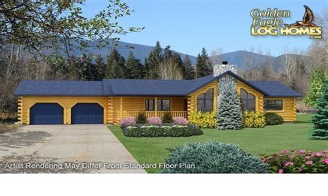 ranch log homes floor plans single story log homes log cabin ranch style house plans