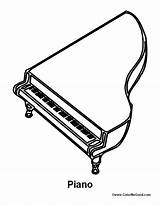 Piano Coloring Pages Sheets Playing Activity Grand sketch template