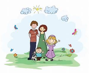 Family at The Park Clipart (12+)