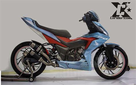 Modifikasi Supra by Modifikasi Honda Supra Gtr 150 Racing Blue Cxrider