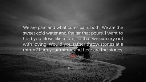 rumi quote   pain   cures pain