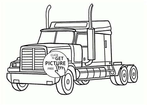 realistic semi truck coloring page  kids transportation coloring pages printables