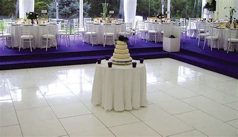 Gloss White Dance Floor   Furniture4Events