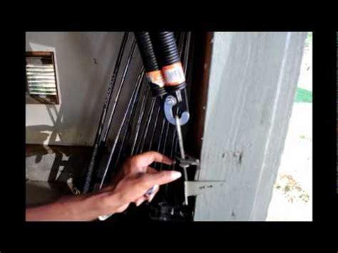 change  side spring   garage door youtube