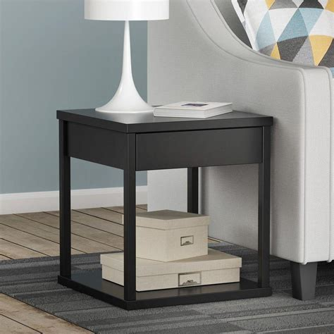 altra parsons desk with drawer blackred altra furniture parsons black end table 5185096w the