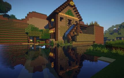 medieval water mill creation
