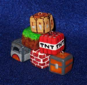 Minecraft Polymer Clay Charms