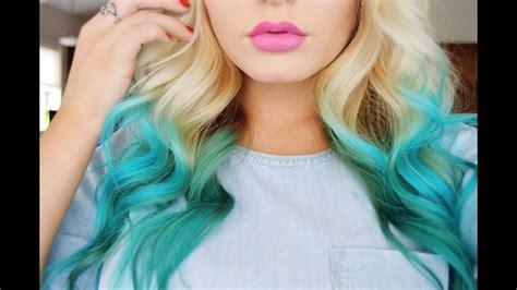 mermaid hair color diy youtube