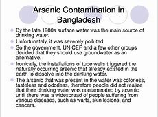 PPT Groundwater Arsenic Contamination in Bangladesh