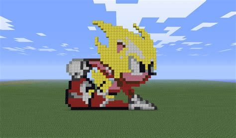 Super Sonic From Sonic 2 Minecraft Project