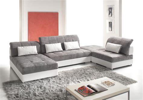canap 233 d angle modulable cuir et tissu mod 232 le edy magasin de meubles plan de cagne cuir