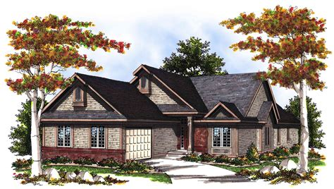 vaulted great room house plan ah architectural
