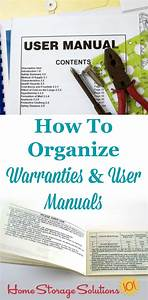 How To Organize Warranties And Manuals