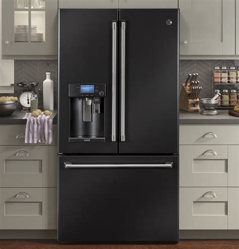 cyeuelds ge cafe  counter depth french door refrigerator  cup black slate