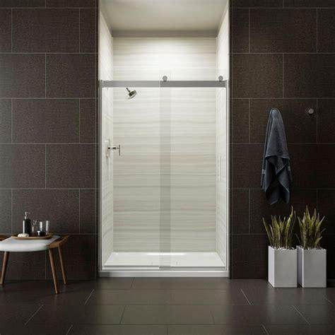 Kohler Glass Shower Door - kohler levity 48 in x 74 in semi frameless sliding