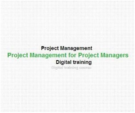 digital management course the knowledge engineers project management for project