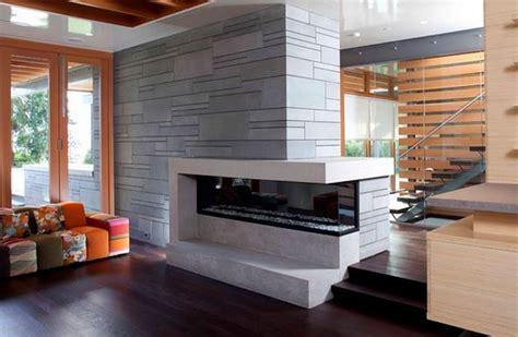 canapé angle confortable salon moderne avec cheminée deco maison moderne