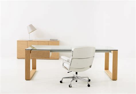 glass home office desk next glass desk by hodema stylepark
