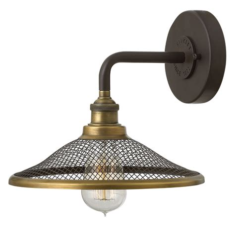 bronze and wall sconces rigby buckeye bronze one light wall sconce hinkley 1 light