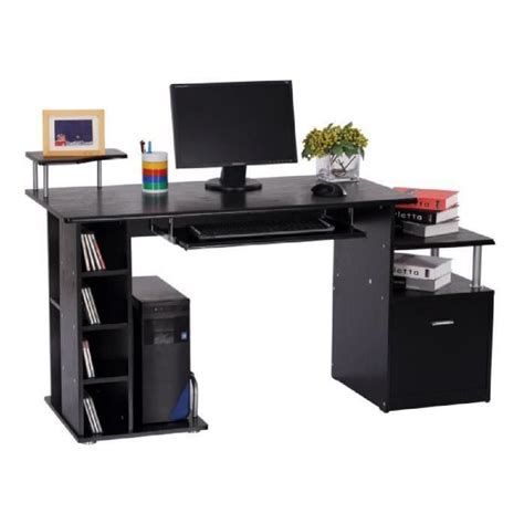 promo pc bureau bureau pour ordinateur table meuble pc informatique en mdf