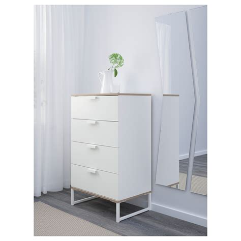 Ikea Trysil Chest Of Drawers by Trysil Chest Of 4 Drawers White Light Grey 60x99 Cm Ikea