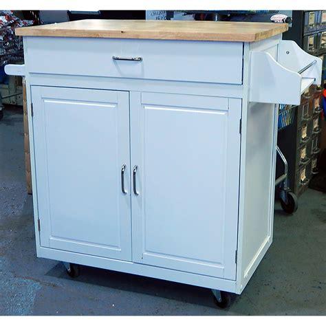 kitchen islands wheels menard portable kitchen island cart with wheels white 2095