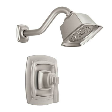 moen boardwalk faucet brushed nickel shop moen boardwalk spot resist brushed nickel 1 handle