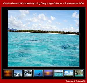 templates for dreamweaver cs6 - create a beautiful photogallery using swap image behavior